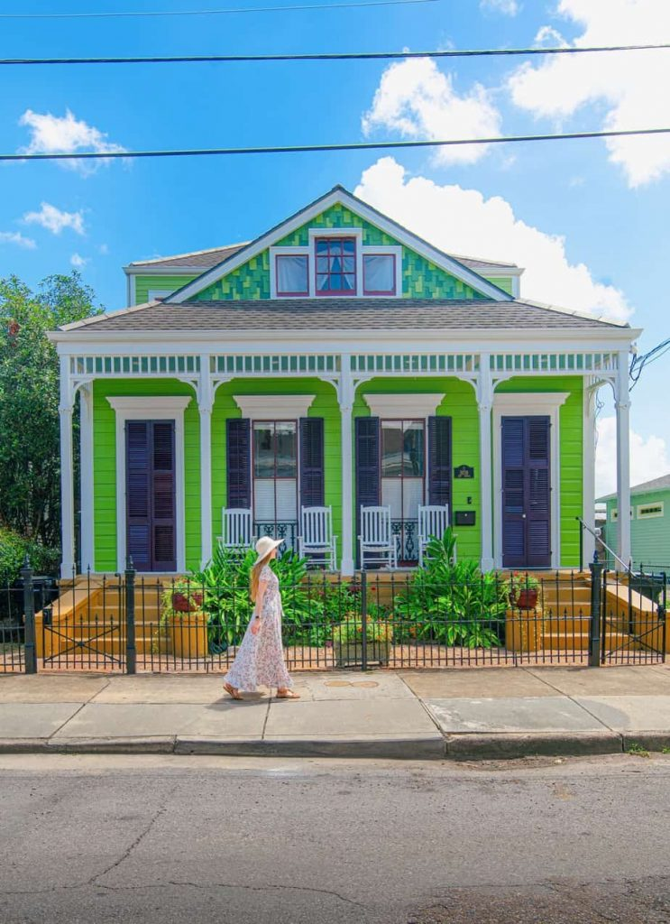 Walking along the Bywater in New Orleans