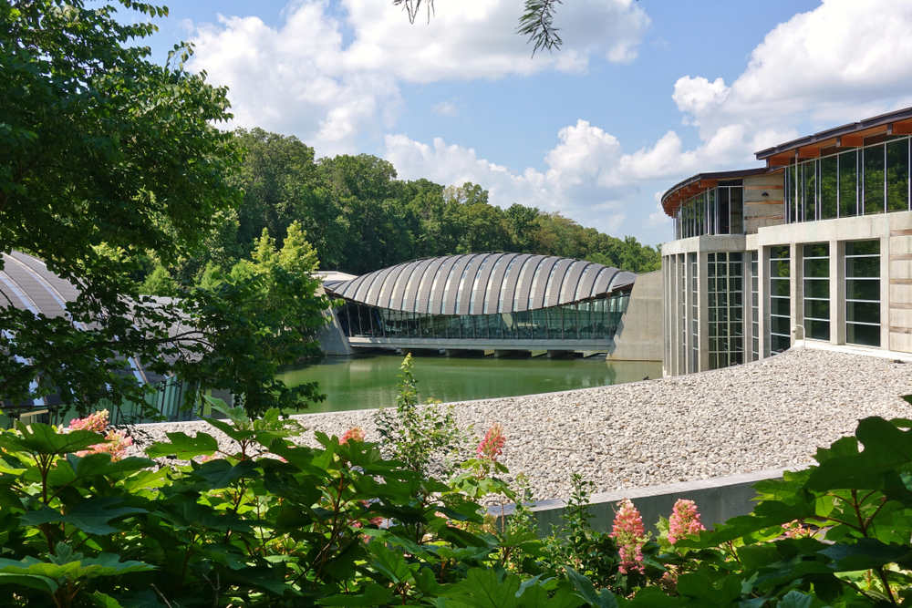 Crystal Bridges Museum is as pretty on the outside as the inside.