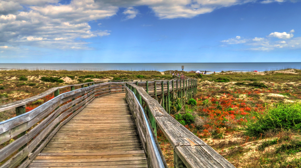 Photo of pathway leading to a beach on Amelia Island