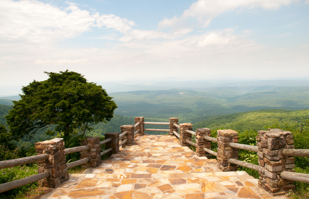One of the overlooks at Mount Magazine State Park, a pretty place in Arkansas.