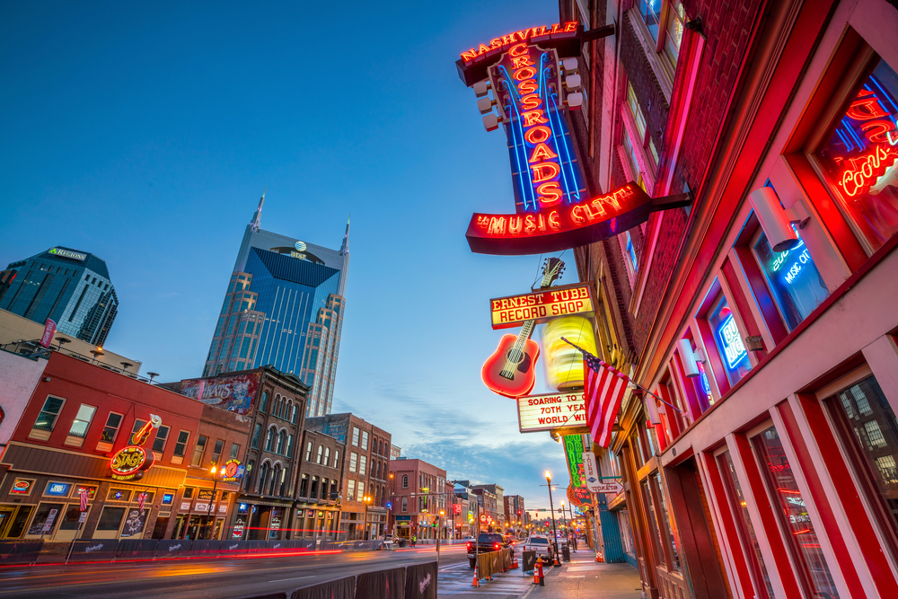Nashville, Tennessee is a fun place to visit in the South