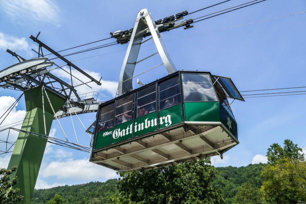 Photo of the Gatlinburg Aerial Tram.