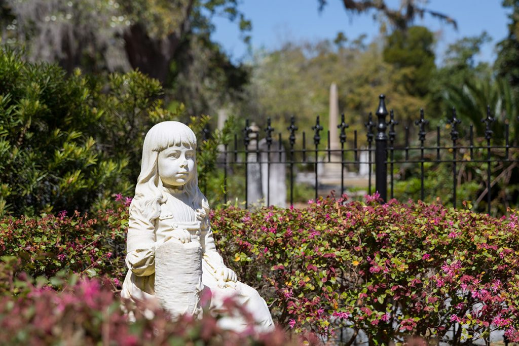 Gracie Watson Statue in Bonaventure Cemetery