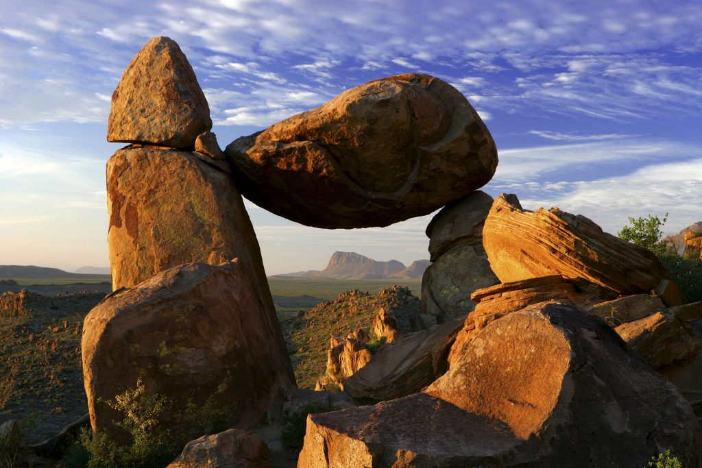 Photo of a large rock formation in Big Bend National Park.