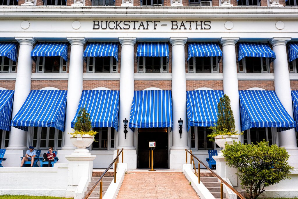 Photo of Buckstaff Bathhouse in Hot Springs, Arkansas.