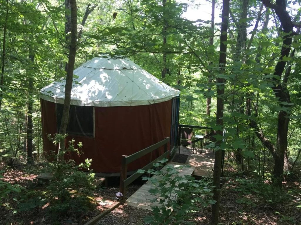 Yurt at Cedar House Inn & Yurts for weekend getaways in Georgia