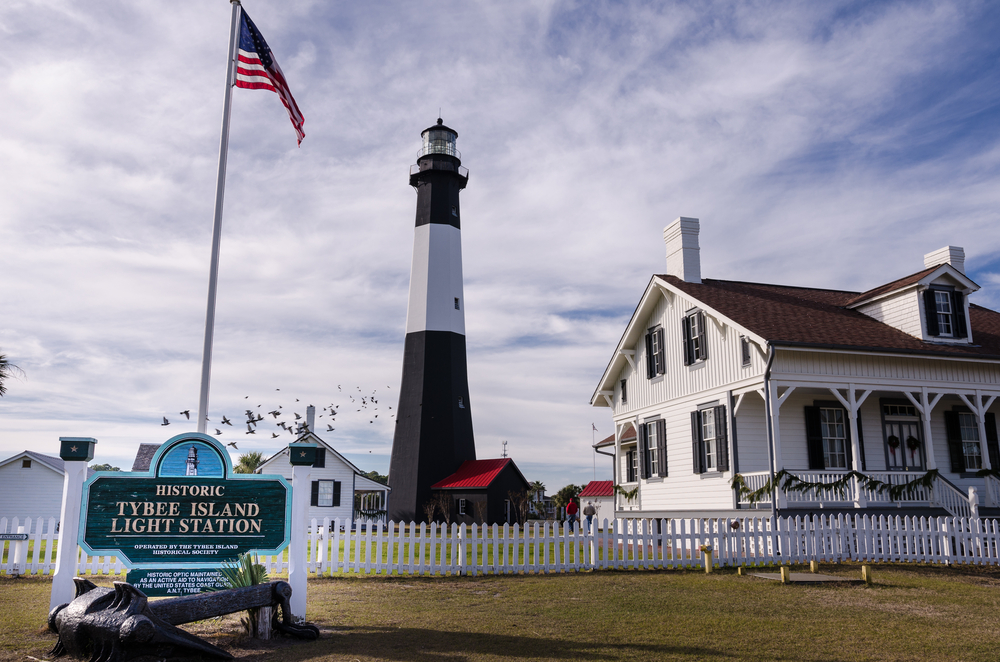 Tybee Island light house one of the best weekend getaways in Georgia