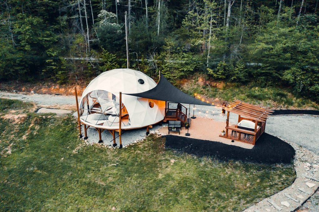 If you are looking for epic place to stay in the South  check out Glamping Dome at Lake Lure!