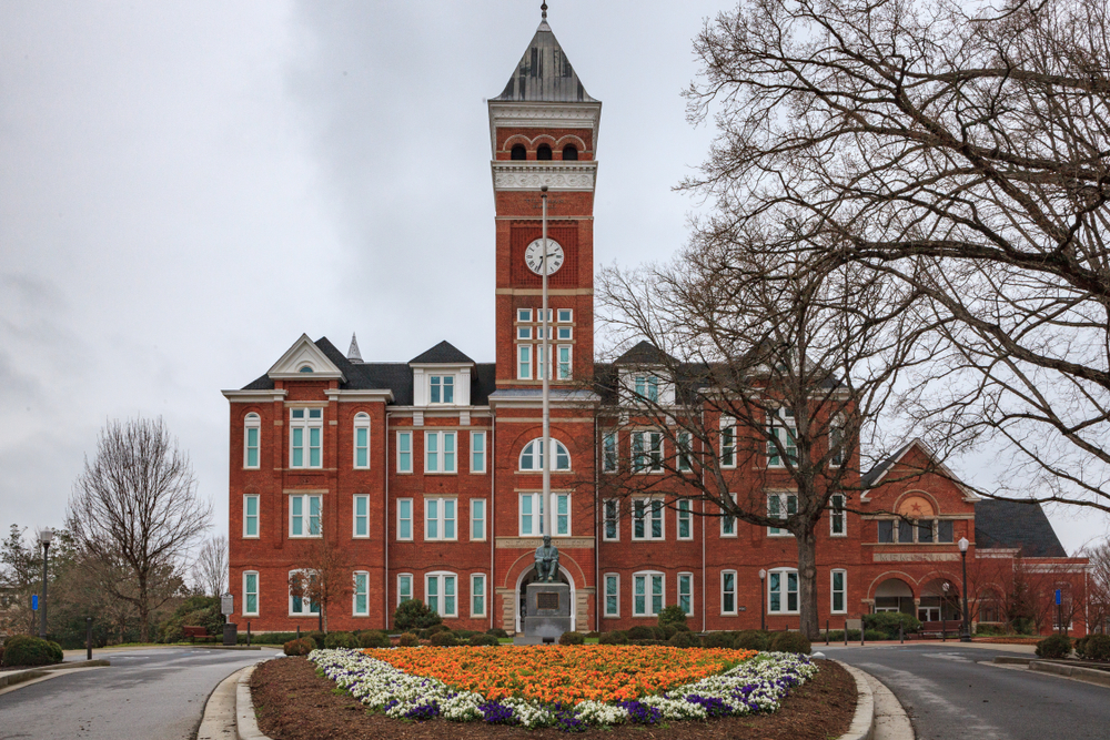 Clemson, South Carolina is also one of the popular collage towns along the Blue Ridge Mountains
