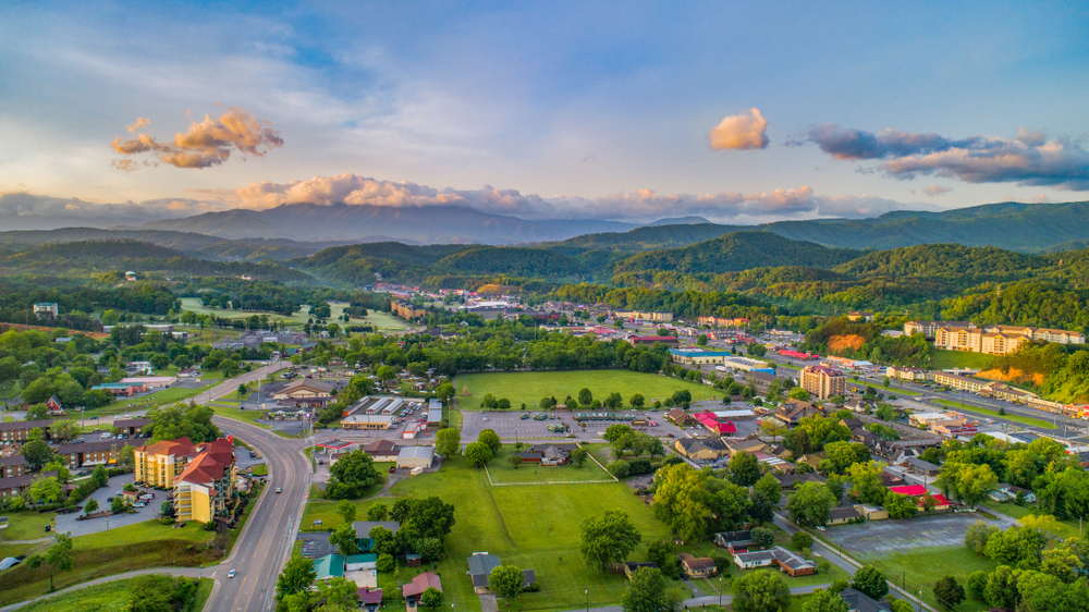 Pigeon Forge is a resort town is located just north of the Great Smoky Mountains National