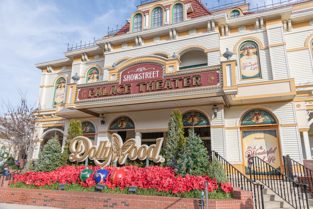 The outside of the Palace Theater in Dollywood one of the best theme parks for a Tennessee road trip