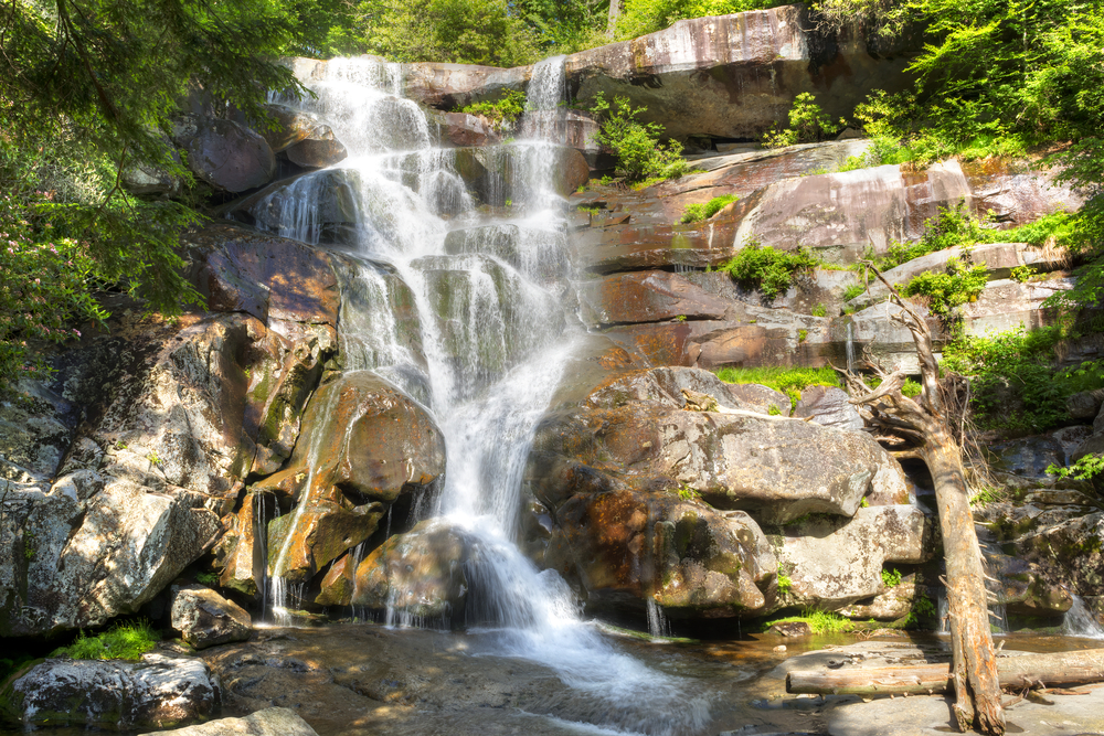 The Ramsay Cascades in the Great Smoky Mountains