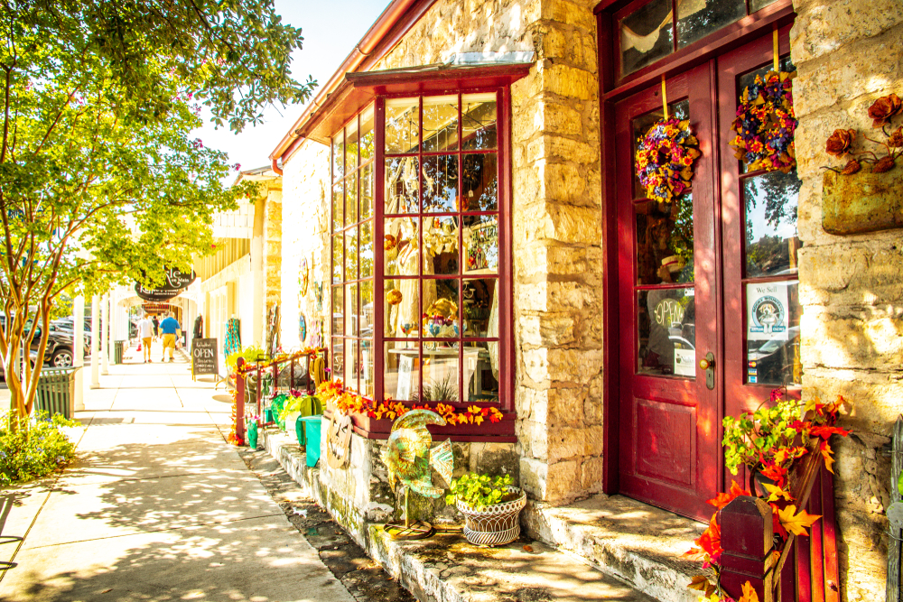 Fredericksburg is known for its quaint shops and wineries.