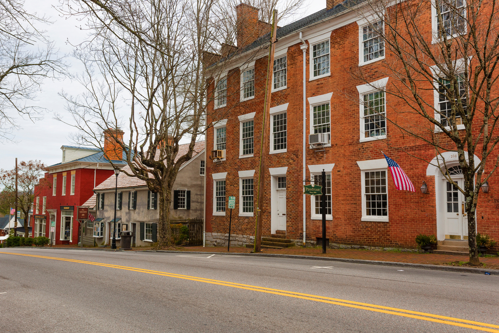 Abingdon, Virginia is a small town in the south with brick buildings