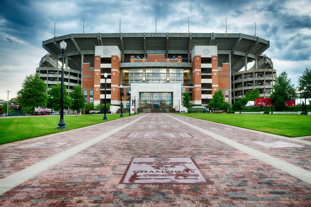 Bryant-Denny Stadium in Tuscaloosa, a perfect stop on some Southern road trips.