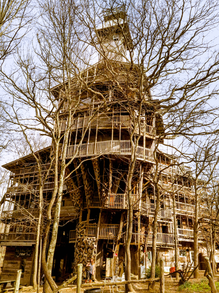 The Minister's Treehouse a unique abandoned building in Tennessee one of the most unique stops on a Tennessee road trip