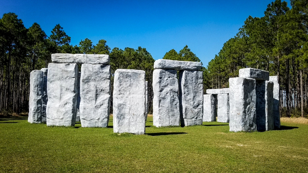 The fiberglass small scale recreation of Stonehenge known as Bamahenge is one of the fun things to do in Alabama.