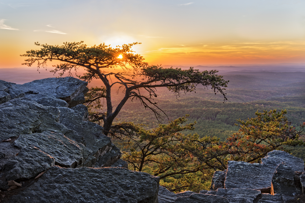 The view from the top of Cheaha Mountain at Cheaha State Park