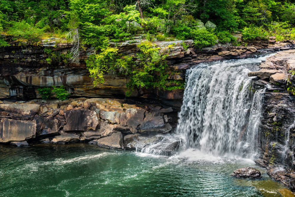 Photo of a waterfall at Little River Canyon National Preserve one of the fun things to do in Alabama