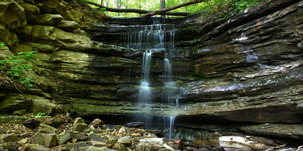 A waterfall at Monte Sano State Park.