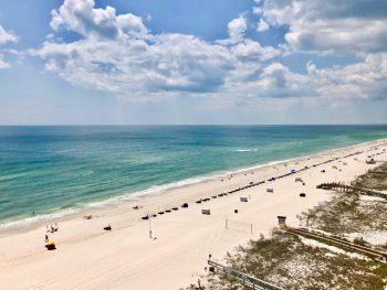 Aerial view of Orange Beach in Alabama