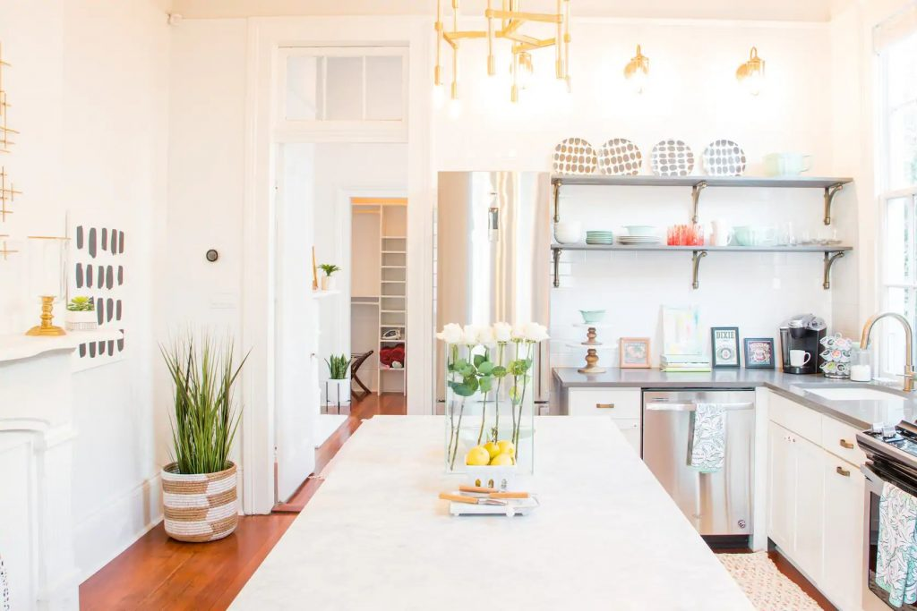 Photo of an Airbnb in New Orleans that was featured on HGTV.
