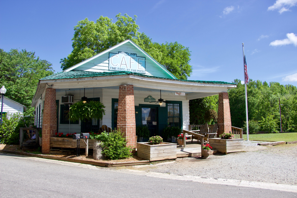 The Whistle Stop Cafe which was one of the filming locations for Fried Green Tomatoes a must stop for film buffs taking a Georgia road trip