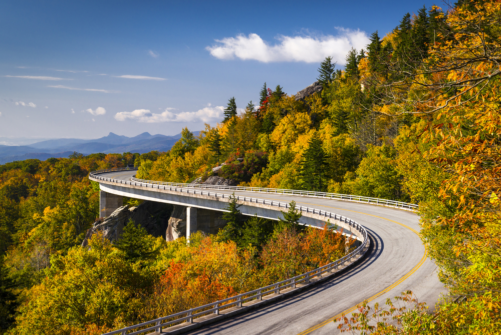 One way to spend a fun weekend in North Carolina is to drive the Blue Ridge Parkway.