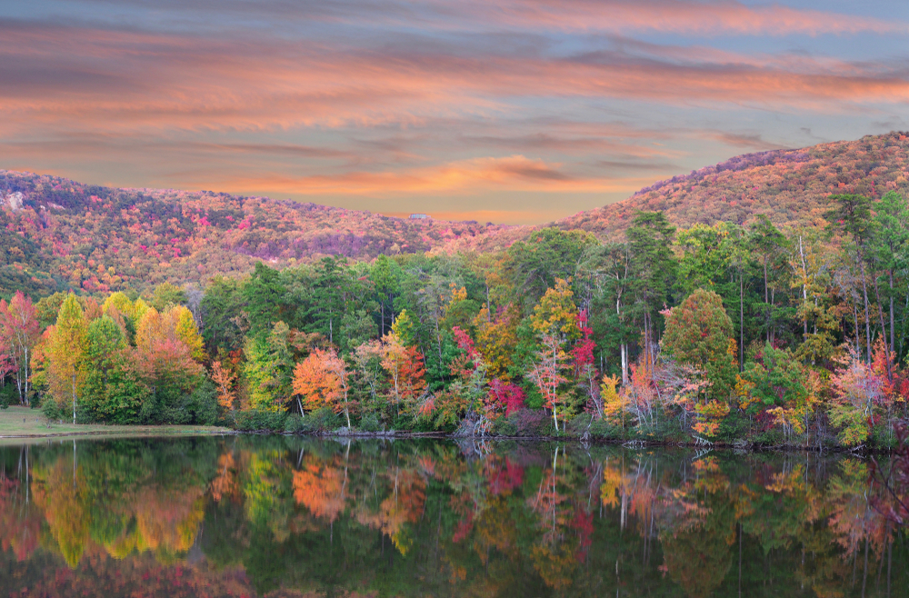 Views like this fall foliage can be found at state parks in Alabama.