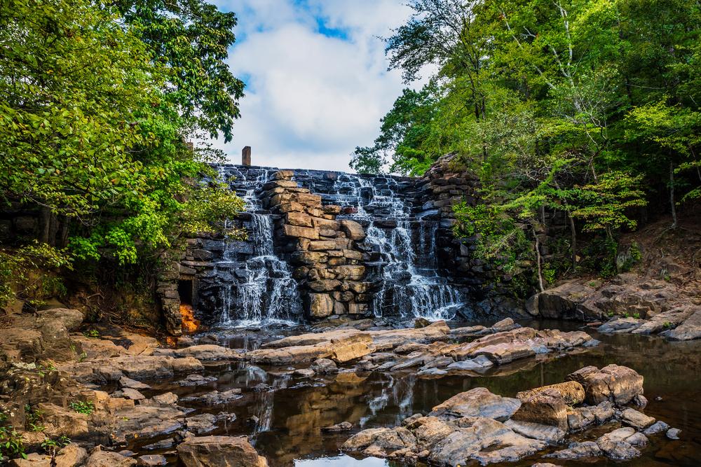 Chewacla Waterfall is one of the best waterfalls in Alabama.