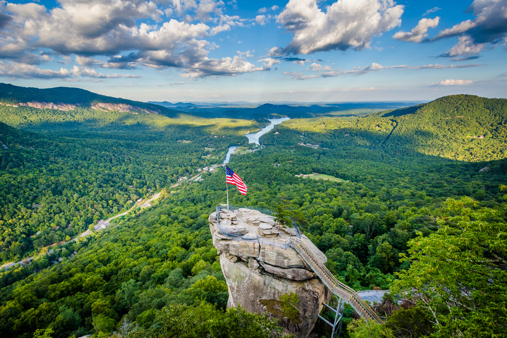 If you love great views, go to Chimney Rock State Park on your weekend getaway in North Carolina.