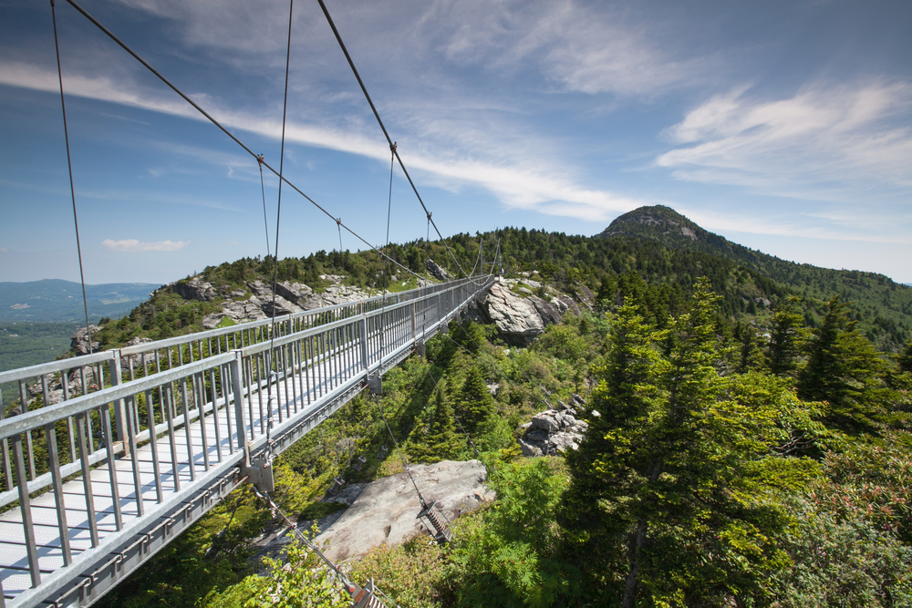 Grandfather Mountain is a great place for hiking in North Carolina.