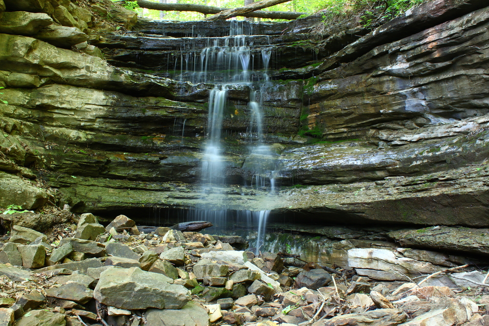A little waterfall in Monte Sano State Park in Alabama.