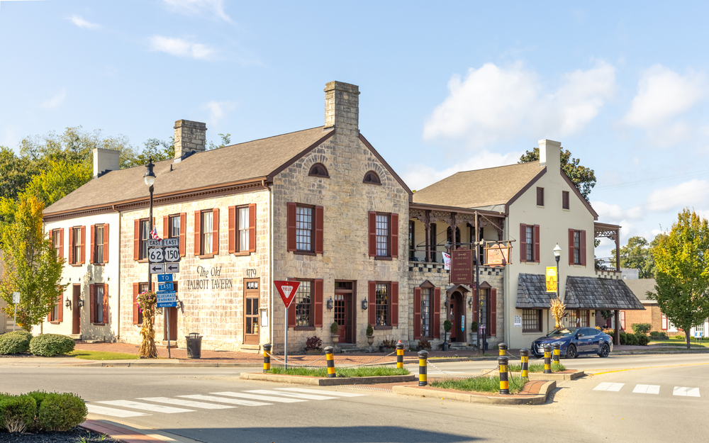 The Old Talbott Tavern has an interesting history and is one of the most haunted places in Kentucky.