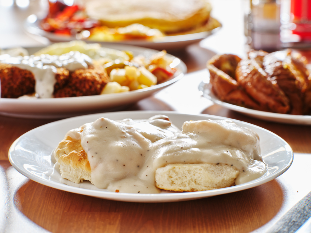 biscuits and gravy at one of the best restaurants in savannah