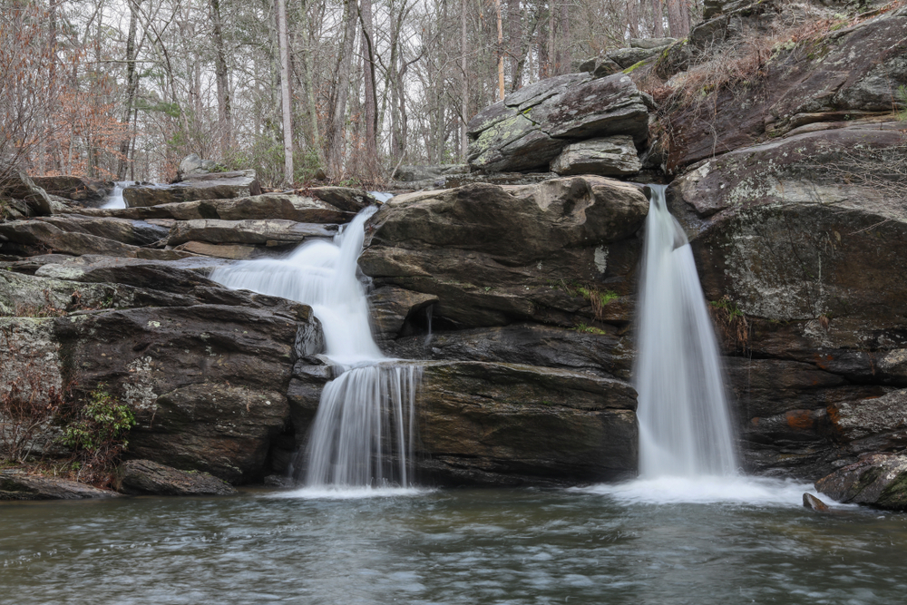 Photo of Cheaha Falls, one of the lesser known waterfalls in Alabama.