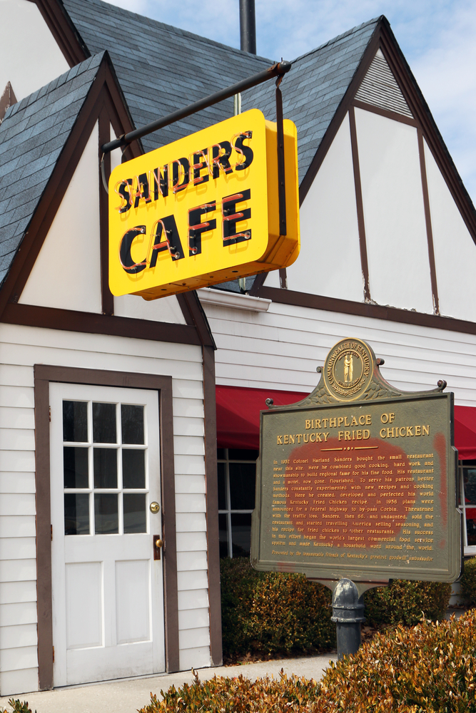 The birthplace of Kentucky Fried Chicken, the Harland Sanders Cafe and Museum