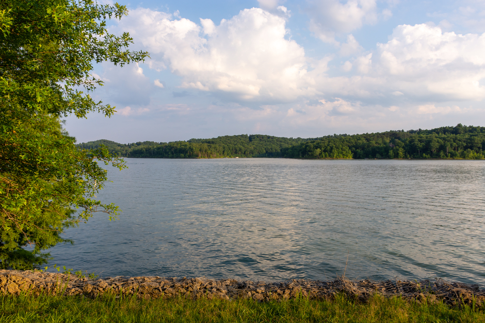 Overlooking the calm water in one of the most relaxing weekend getaways in Kentucky, Nolin Lake State Park