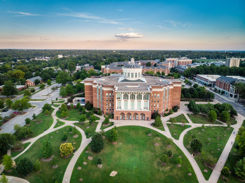 An areal view of the beautiful University of Kentucky