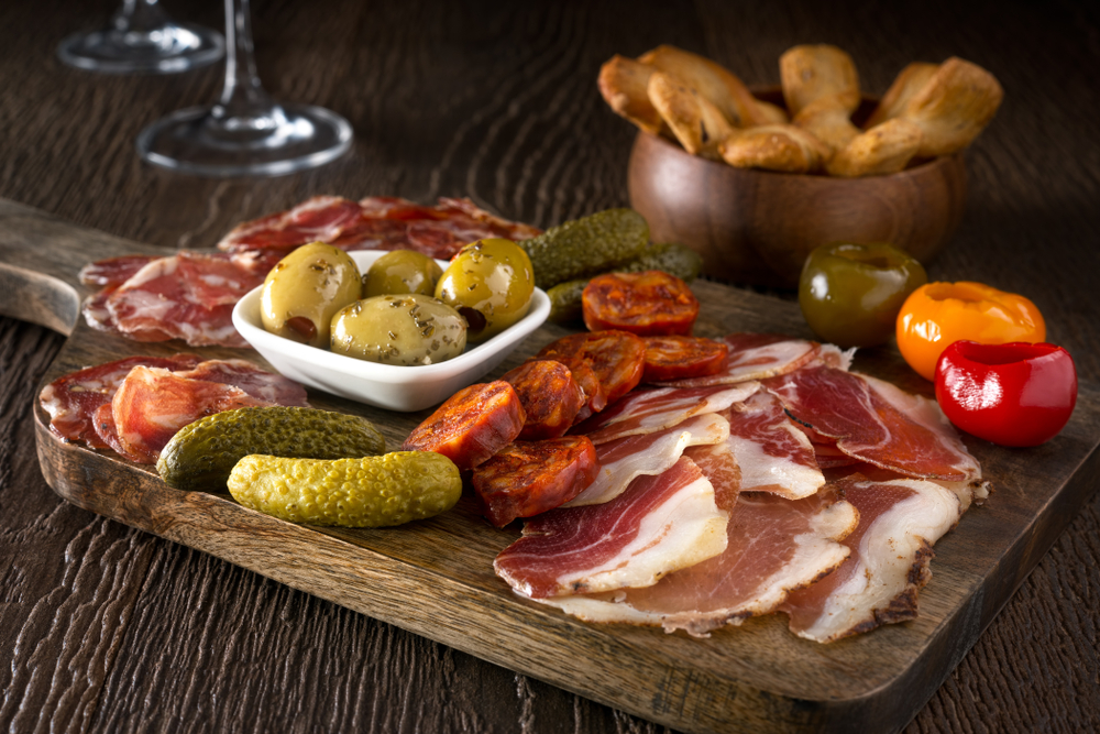 photo of a charcuterie board