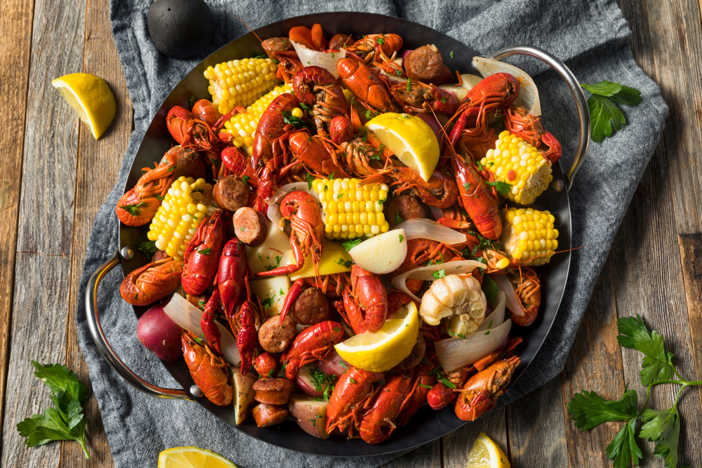 crawfish boil at one of the best restaurants in new orleans