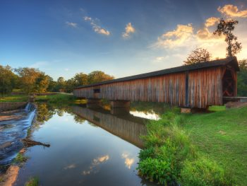 Watson Mill Covered Bridge is one of the prettiest covered bridges in Georgia.