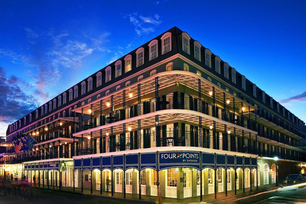 The Four Points Sheraton hotel on Bourbon Street in New Orleans