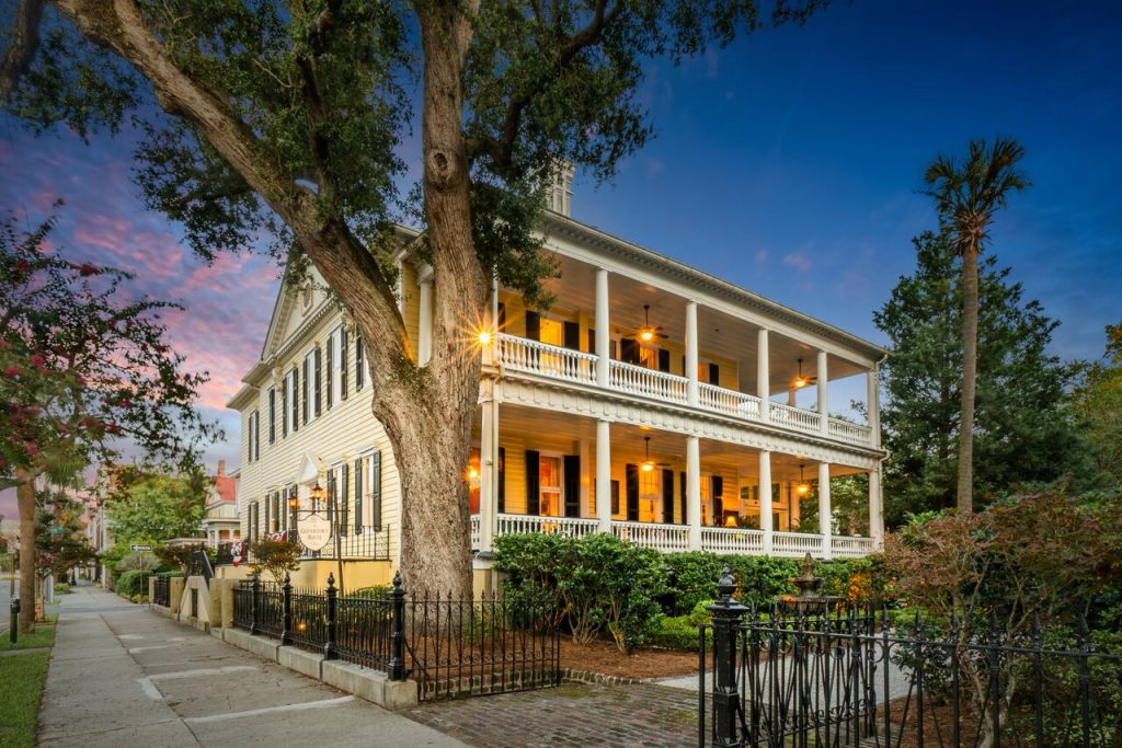his bed and breakfast in Charleston is quite special and has a lot of history behind it.