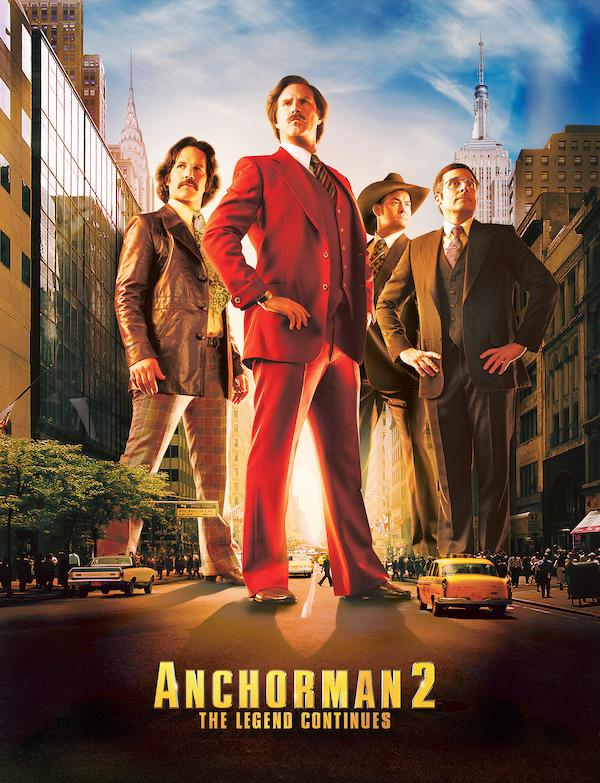 The poster for Anchorman 2, one of the movies filmed in Georgia.