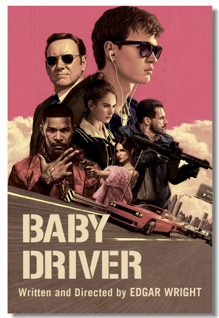 A poster for Baby Driver, one of the films made in Georgia.