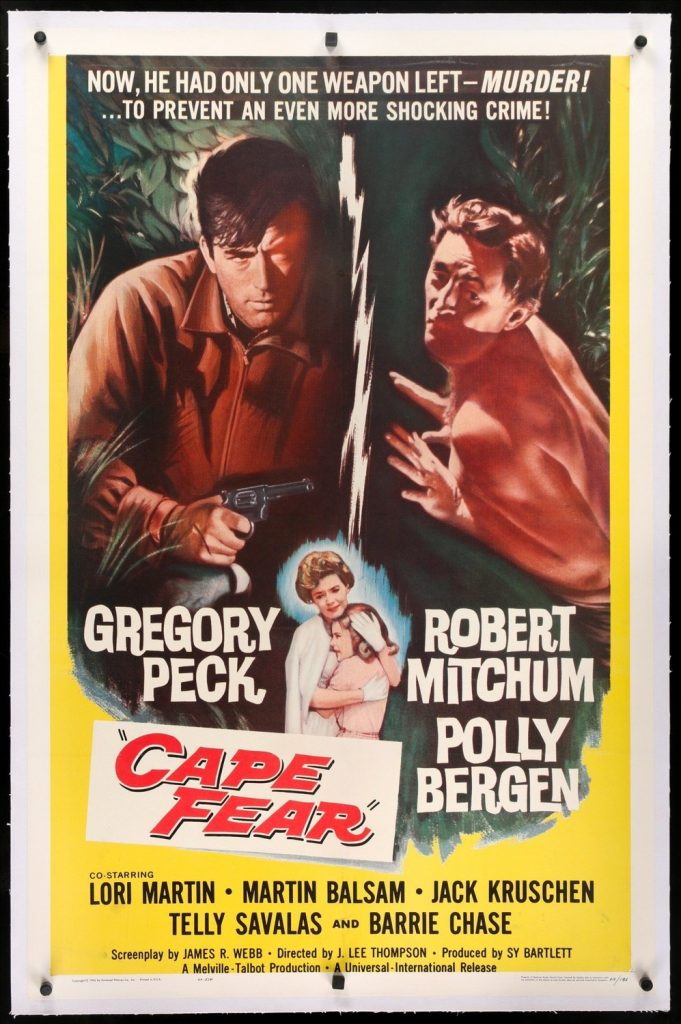 The poster for the original version of Cape Fear
