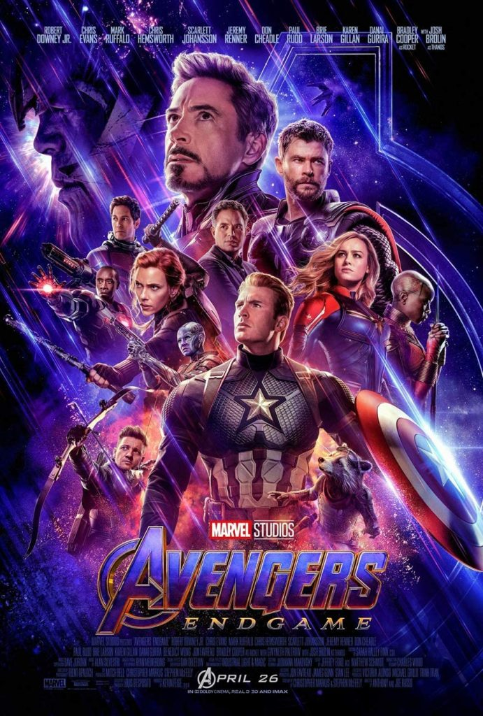 The poster for Avengers: Endgame, one of the movies filmed in Georgia.