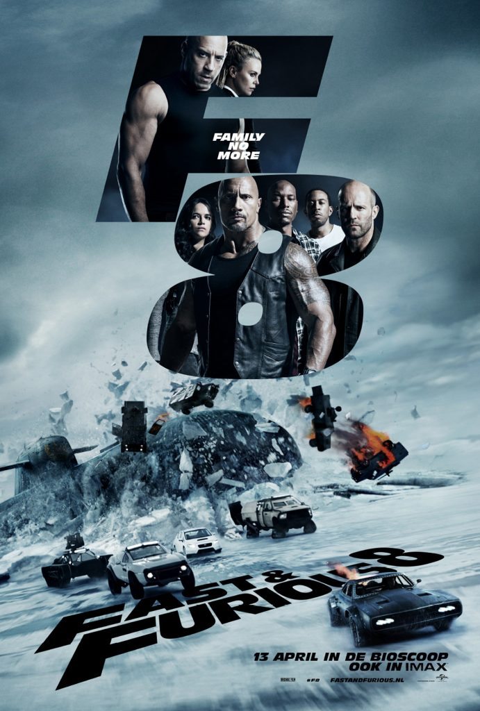 The poster for the eight installment of the Fast and Furious franchise, The Fate of the Furious