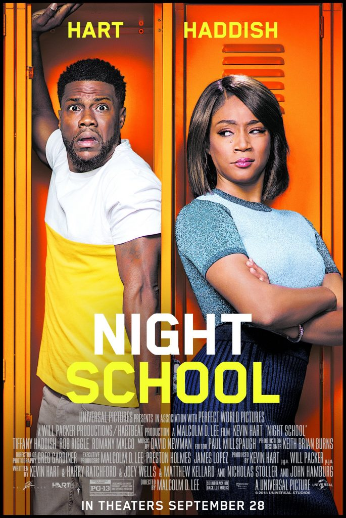 The poster for Night School, one of. themovies filmed in Georgia.